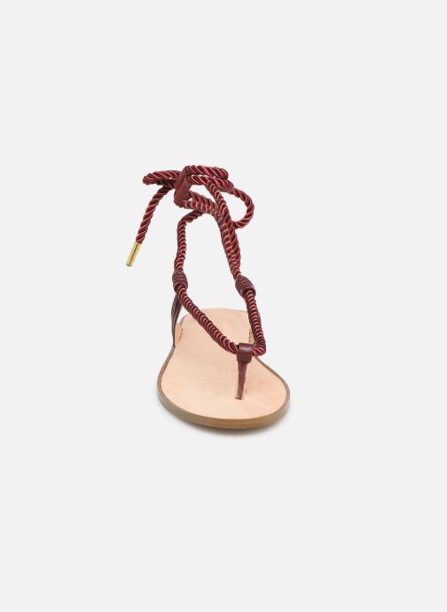 Sandales et nu-pieds E8 by Miista ISIDORA Bordeaux vue portées chaussures