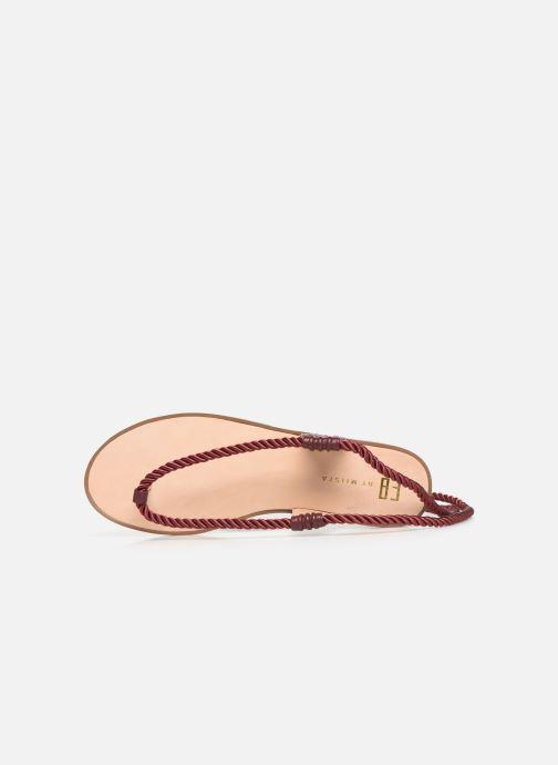 Sandales et nu-pieds E8 by Miista ISIDORA Bordeaux vue gauche