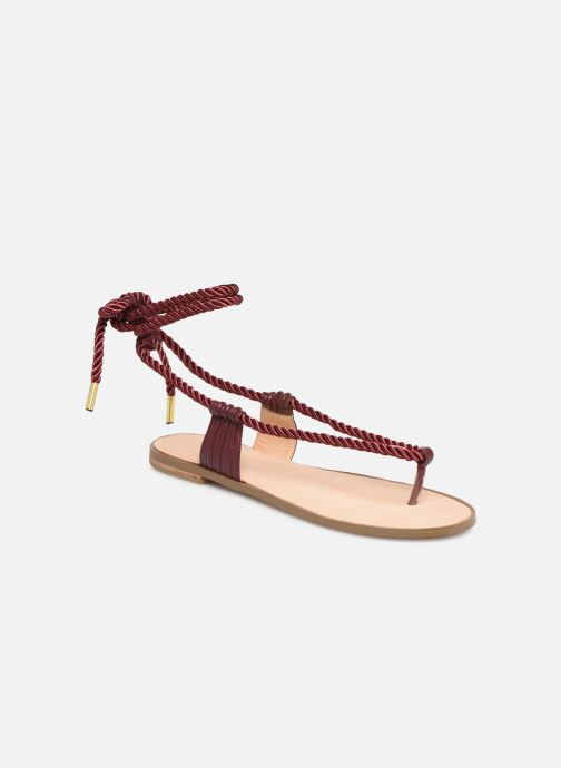 Sandales et nu-pieds E8 by Miista ISIDORA Bordeaux vue détail/paire