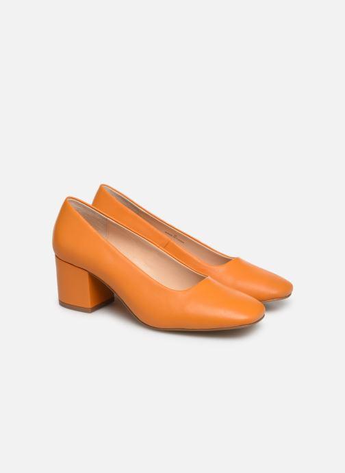High heels E8 by Miista NOHEMI Orange 3/4 view