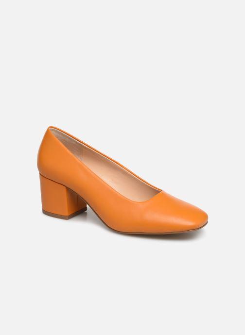 High heels E8 by Miista NOHEMI Orange detailed view/ Pair view