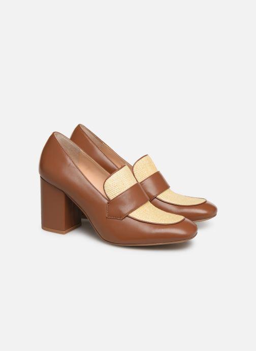 High heels E8 by Miista LINNEA Brown 3/4 view