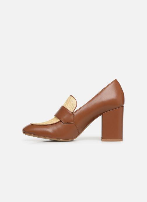High heels E8 by Miista LINNEA Brown front view