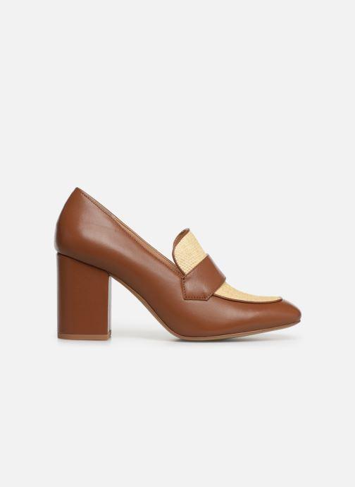 High heels E8 by Miista LINNEA Brown back view