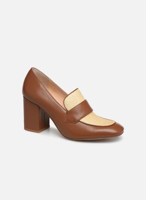 High heels E8 by Miista LINNEA Brown detailed view/ Pair view