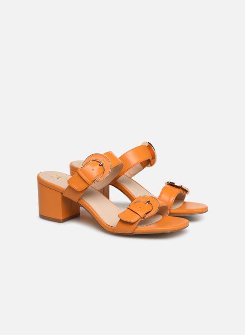 Mules et sabots E8 by Miista ANA Orange vue 3/4