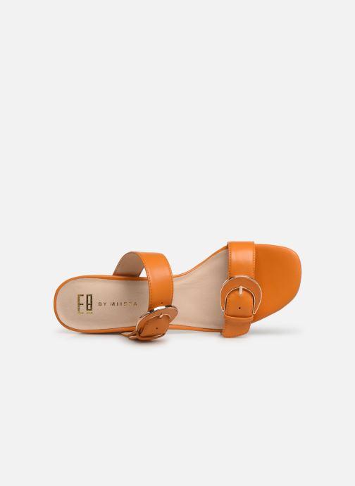 Mules et sabots E8 by Miista ANA Orange vue gauche