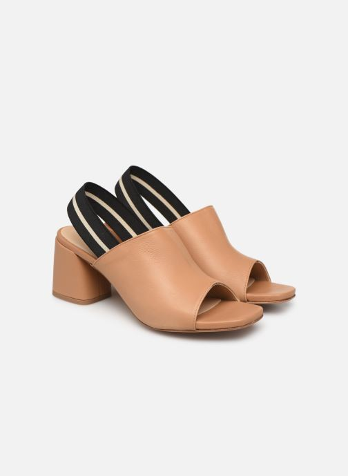 Sandales et nu-pieds Notabene Yuki Marron vue 3/4