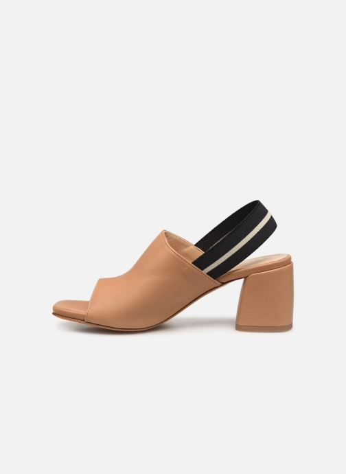 Sandales et nu-pieds Notabene Yuki Marron vue face
