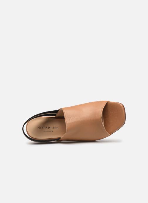 Sandales et nu-pieds Notabene Yuki Marron vue gauche