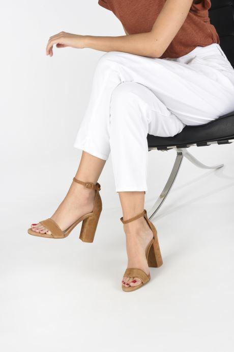 Sandales et nu-pieds Notabene Akira Marron vue bas / vue portée sac