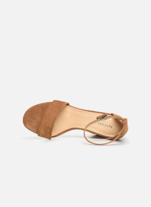Sandales et nu-pieds Notabene Akira Marron vue gauche