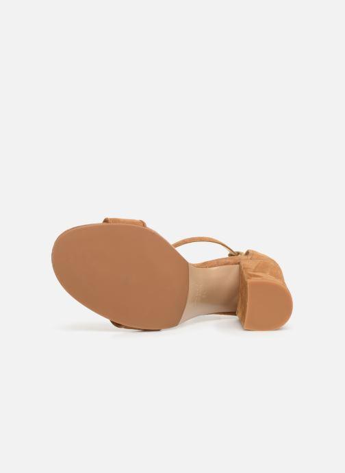 Sandales et nu-pieds Notabene Akira Marron vue haut