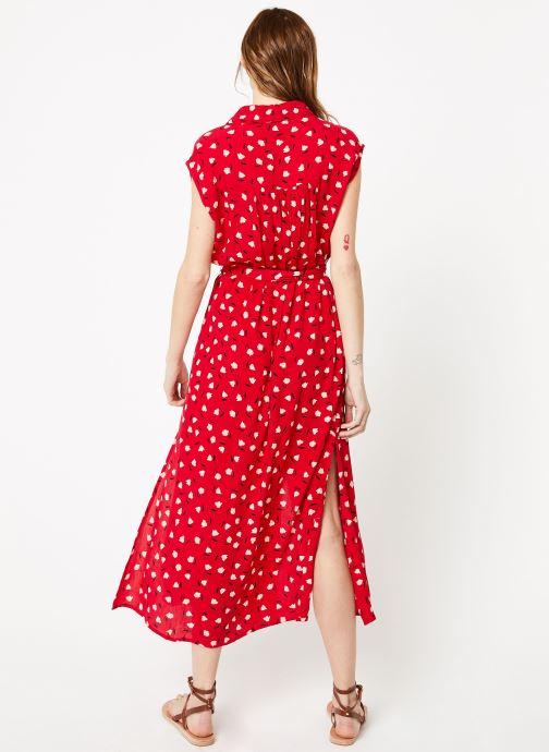 Vêtements Billabong little flirt dress Rouge vue portées chaussures