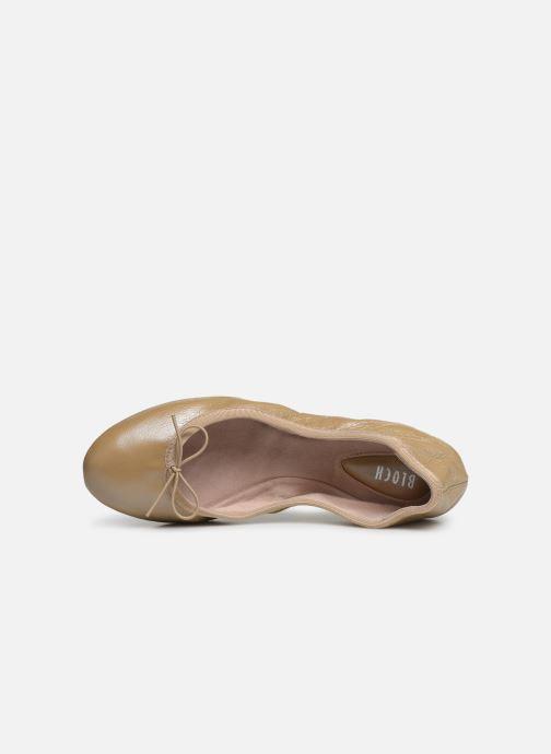 Ballet pumps Bloch Lauren Beige view from the left