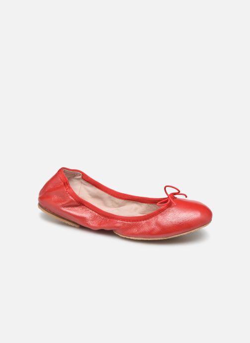 Ballerines Bloch Lauren Rouge vue détail/paire