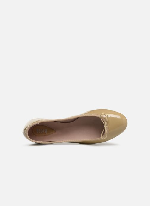 Ballet pumps Bloch Soft patent ballerina Beige view from the left