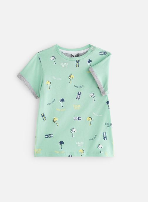 Vêtements 3 Pommes 3N10063 Vert vue détail/paire