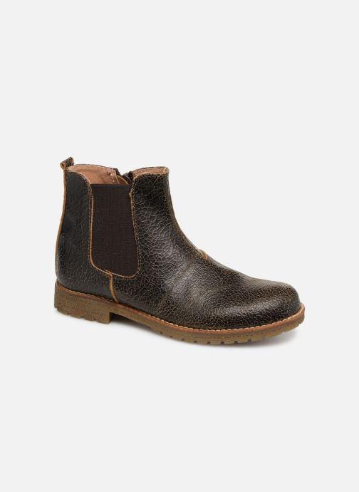 Bottines et boots Yep Jessy Marron vue détail/paire