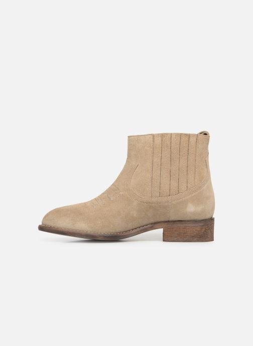 Bottines et boots Yep Debby Beige vue face