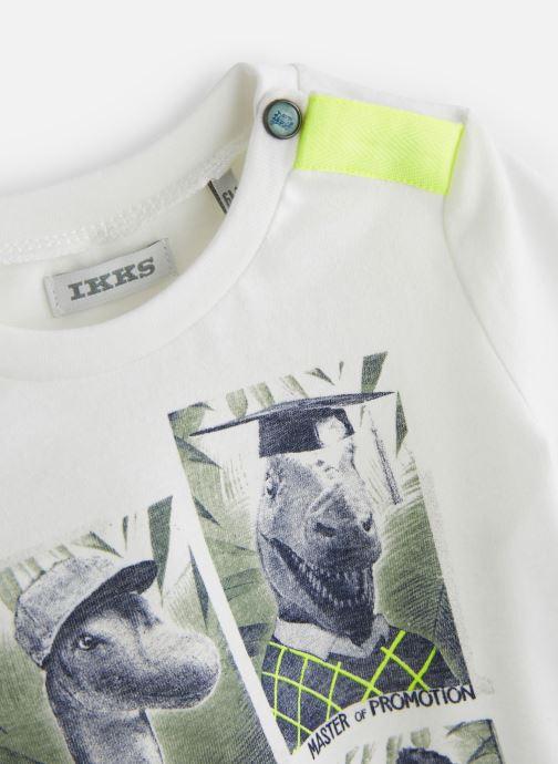 Vêtements IKKS JUNIOR  XN10101 Blanc vue portées chaussures