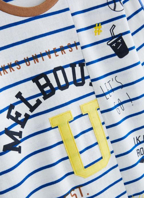Vêtements IKKS JUNIOR  XN10023 Blanc vue portées chaussures