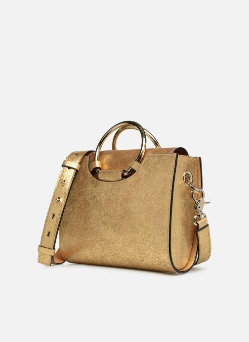 Bolsos de mano Sainte Isaure Scarlett Oro y bronce vista del modelo