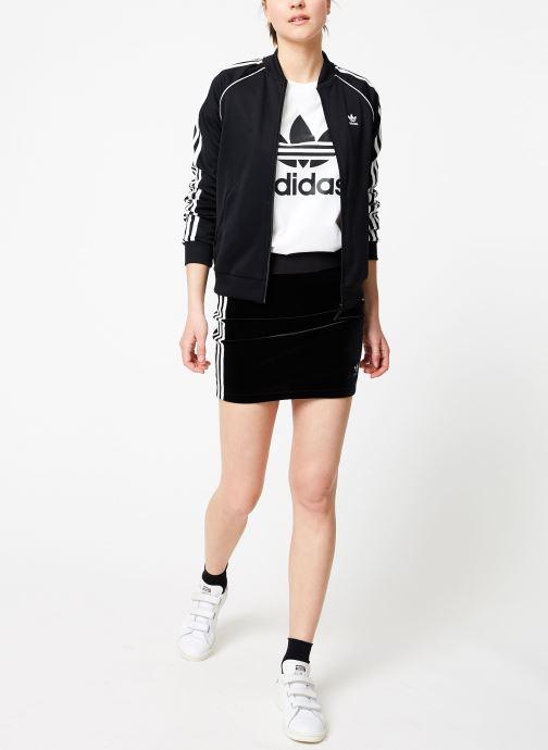 Vêtements adidas originals Sst Track Jacket Noir vue bas / vue portée sac
