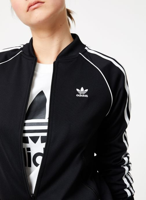 Vêtements adidas originals Sst Track Jacket Noir vue face