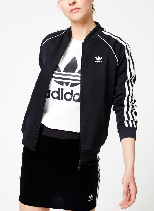Vêtements adidas originals Sst Track Jacket Noir vue droite