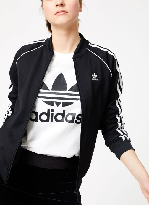 Vêtements adidas originals Sst Track Jacket Noir vue détail/paire