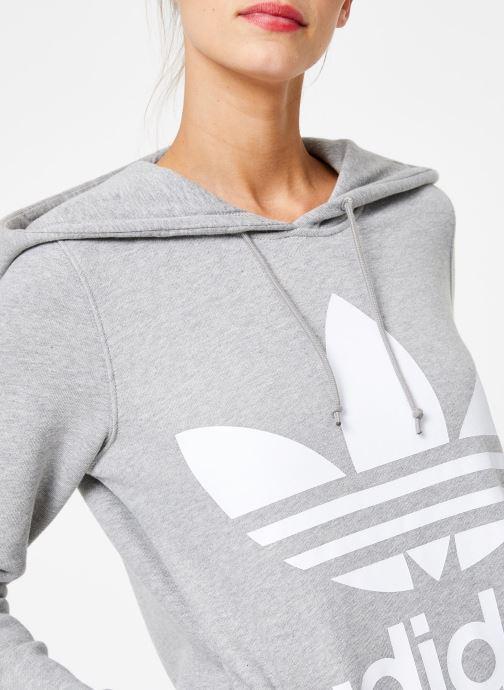 Vêtements adidas originals Sweat-Shirt à capuche Trefoil Gris vue face