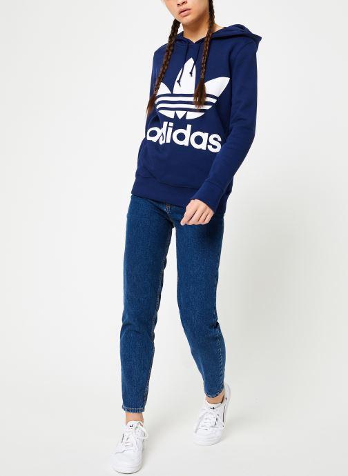 Kleding adidas originals Sweat-Shirt à capuche Trefoil Blauw onder