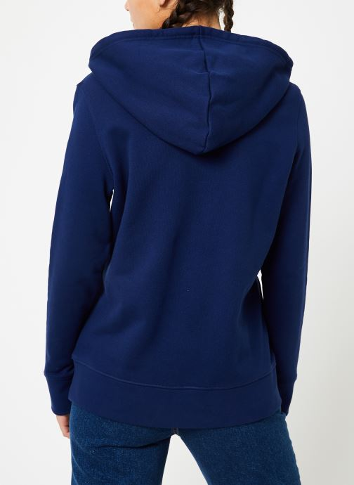Kleding adidas originals Sweat-Shirt à capuche Trefoil Blauw model