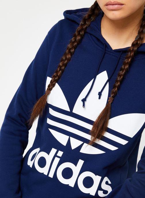 Kleding adidas originals Sweat-Shirt à capuche Trefoil Blauw voorkant