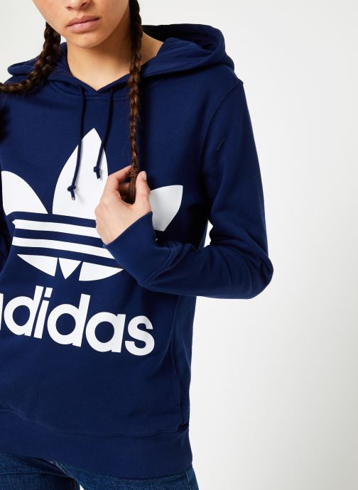 Kleding adidas originals Sweat-Shirt à capuche Trefoil Blauw rechts