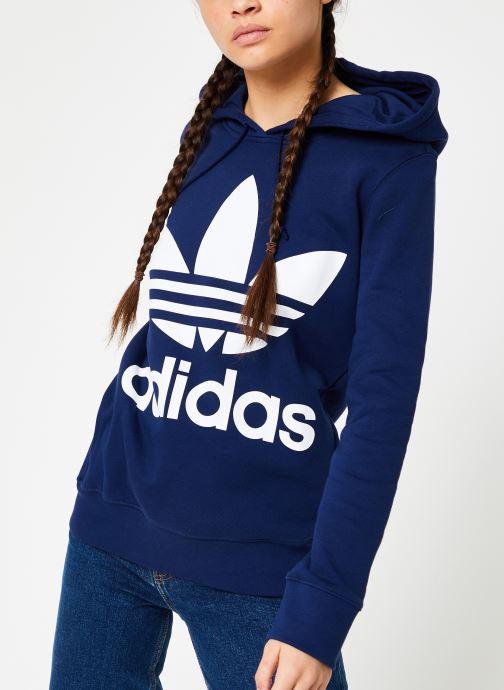 Kleding adidas originals Sweat-Shirt à capuche Trefoil Blauw detail