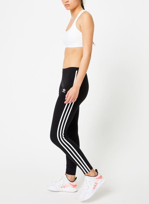 Vêtements adidas originals 3 Stripes Tight Noir vue bas / vue portée sac
