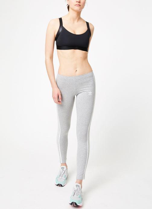 Vêtements adidas originals 3 Stripes Tight Gris vue bas / vue portée sac