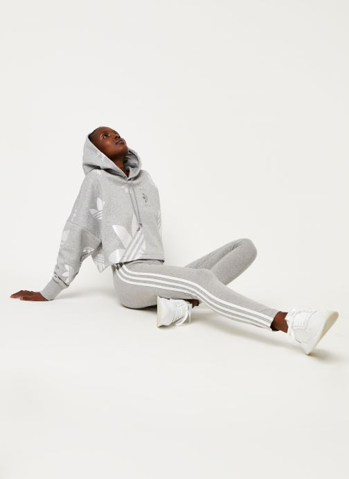 Vêtements adidas originals 3 Stripes Tight Gris vue bas / vue portée sac
