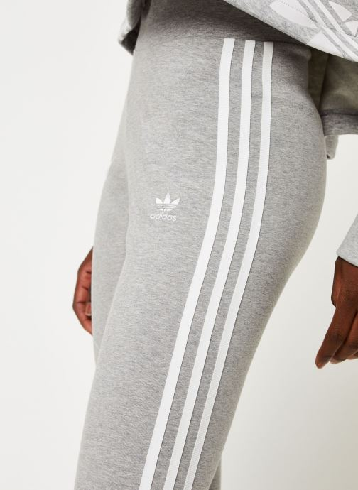 Vêtements adidas originals 3 Stripes Tight Gris vue face