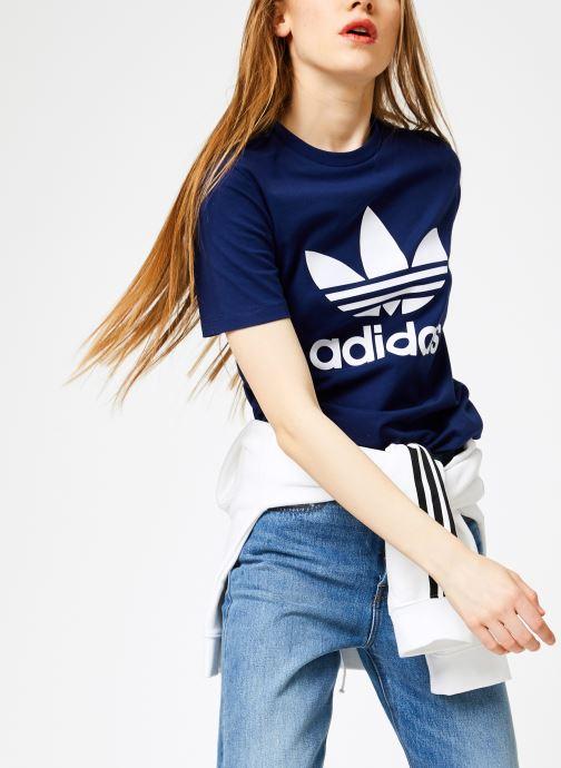 Vêtements adidas originals Trefoil Tee Bleu vue détail/paire
