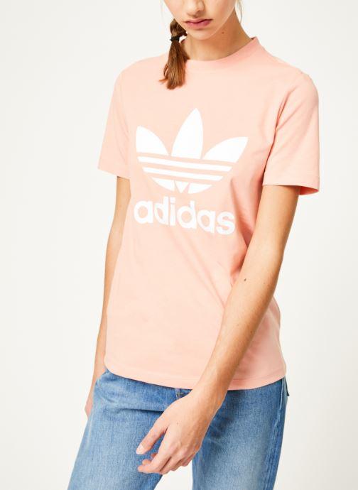 Vêtements adidas originals Trefoil Tee Rose vue droite