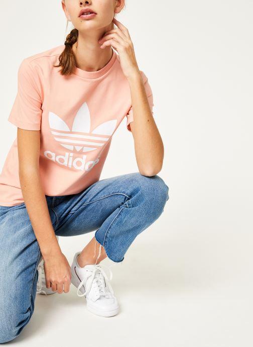 Vêtements adidas originals Trefoil Tee Rose vue détail/paire