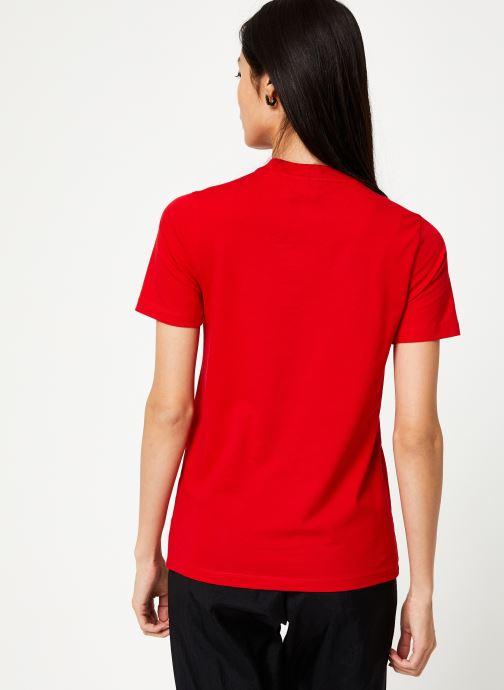 Vêtements adidas originals Trefoil Tee Rouge vue portées chaussures