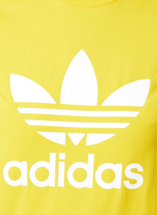 Vêtements adidas originals Trefoil Tee Jaune vue face