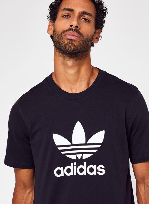 Vêtements adidas originals Trefoil T-Shirt Noir vue face