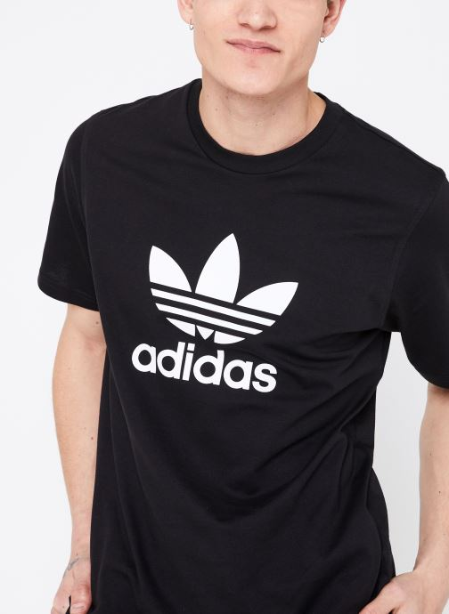 Vêtements adidas originals Trefoil T-Shirt Noir vue détail/paire