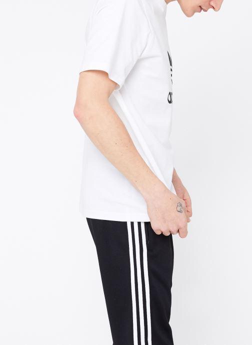 Kleding adidas originals Trefoil T-Shirt Wit rechts