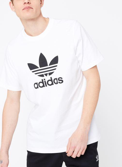 Tøj adidas originals Trefoil T-Shirt Hvid detaljeret billede af skoene